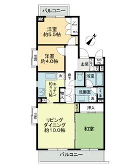 ニューシティ東戸塚緑の街1号棟の間取図