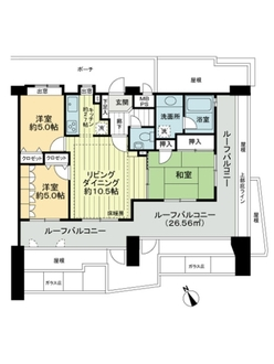 ライオンズマンション高井戸南の間取図