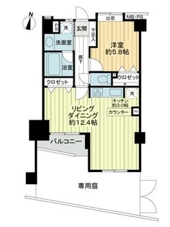ライオンズマンション護国寺富士見坂の間取図