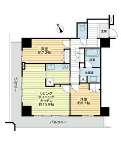 ヴィークタワー名古屋東別院の間取図