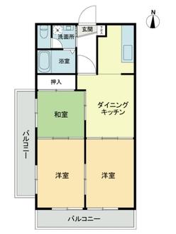 第二東個マンションの間取図