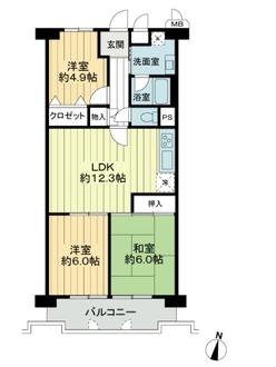 コスモハイツ新大阪の間取図