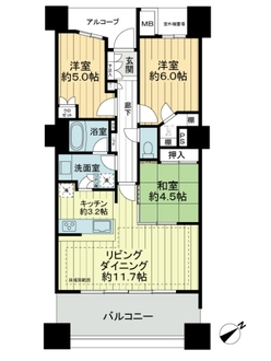 HIBARI TOWERの間取図