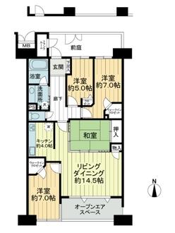 レイディアントシティ横濱カルティエ2の間取図
