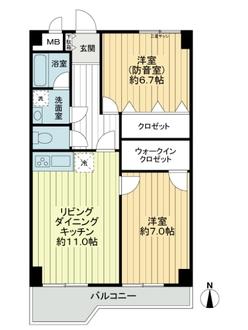 江古田パークマンションの間取図