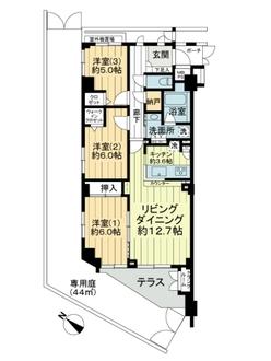 コスモヒルズ横浜WESTの間取図