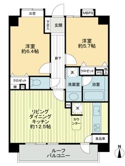 ライオンズマンション東綾瀬公園第2の間取図