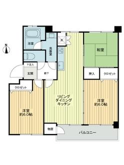 産業住宅協会三鷹第7アパートの間取図
