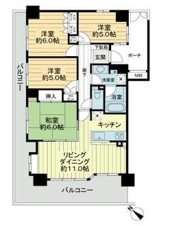 ナイスブライトピア横濱鶴見の間取図