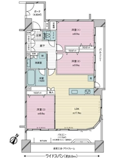レクセルマンション瑞江第6の間取図