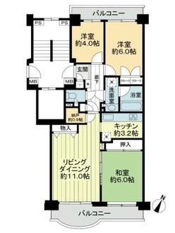 パークシティ金沢八景E棟の間取図