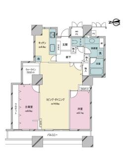西戸山タワーホウムズセントラルタワーの間取図