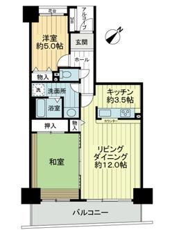 長峰杜の四番街3号棟の間取図