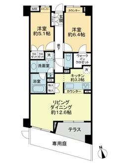パークハウス世田谷桜丘の間取図