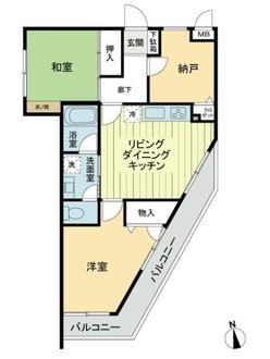 サングレイス弘明寺弐番館の間取図