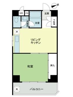 パレ・ドール新宿の間取図
