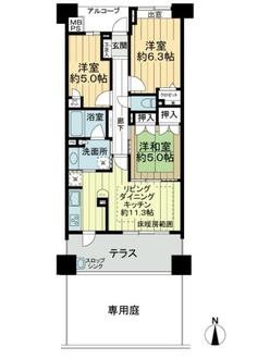 ライオンズマンションセントワーフ横濱の間取図