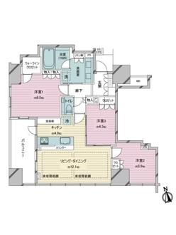 ザ・パークハウス新宿御苑の間取図