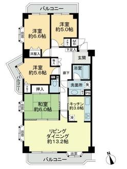山脇町スカイマンションの間取図