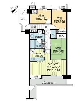 レクセルマンション多摩永山の間取図