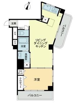 新高円寺パールマンションの間取図