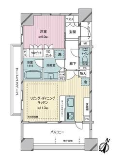 藤和シティホームズ荏原中延駅前の間取図