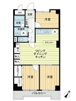 ハイマート横浜の間取図