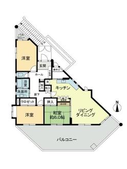 集合邸宅楽園B棟の間取図