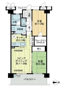 マークスゲート京都サウスの間取図