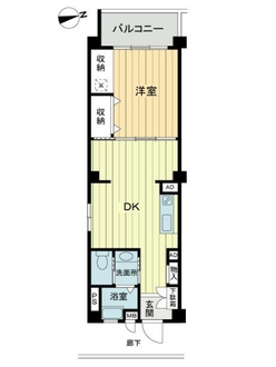 桜丘フラワーマンションの間取図