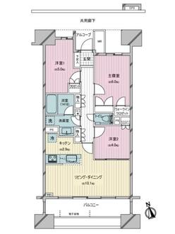 カワサキ・ミッドマークタワーの間取図
