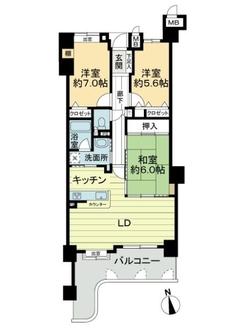 ユーハウス第2徳川の間取図