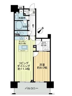 ライフレビュー横濱関内スクエアの間取図