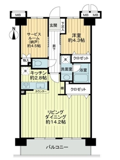 エクレール錦糸町の間取図