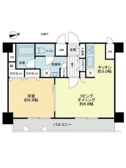 エスコート西新宿の間取図