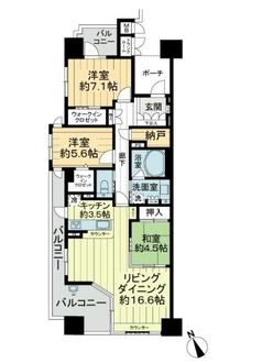 アルバックス上飯田リバーサイドタワーの間取図