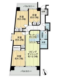 ユーハウス新栄東館の間取図