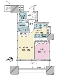 パークシティ大崎ザ・タワーの間取図