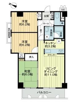 セントラル南桜塚II番館の間取図