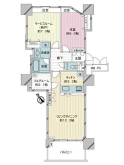 シルエタワーヨコハマの間取図