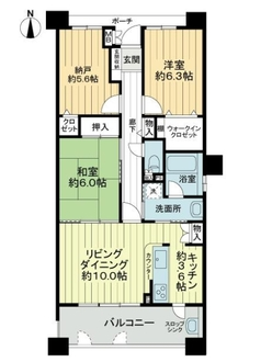 グラン・コート豊田本町の間取図