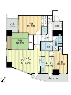 パークタワー大阪中之島フロントの間取図