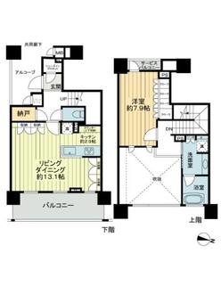 パークタワー横濱ポートサイドの間取図
