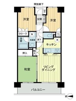東戸塚パークホームズ参番館の間取図