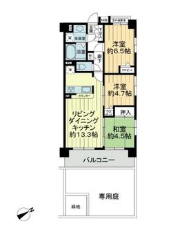 アルファスクエア西東京アルテの間取図