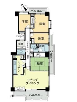 エステ・シティ湘南六浦3番館の間取図