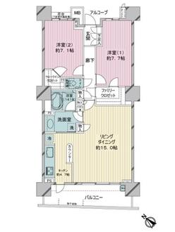 京急シティ上永谷L-ウイング EAST WINGの間取図