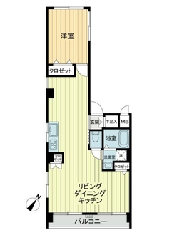 東中野第一マンションの間取図