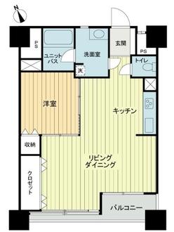 新大塚共同住宅の間取図