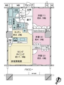 ブリリアマーレ有明タワー&ガーデンの間取図